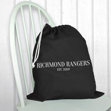 Load image into Gallery viewer, Personalised Black Boot Bag - One of a Kind Gifts UK