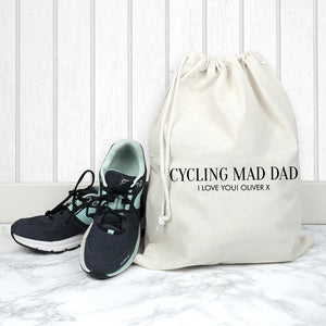 Personalised Cotton Cream Gym Bag - One of a Kind Gifts UK