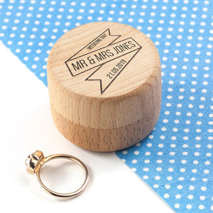 Personalised Couple's Wedding Ring Box - One of a Kind Gifts UK