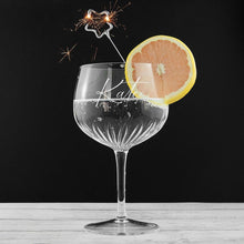 Load image into Gallery viewer, Personalised Crystal Gin Goblet - One of a Kind Gifts UK