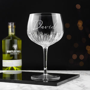 Personalised Crystal Gin Goblet - One of a Kind Gifts UK