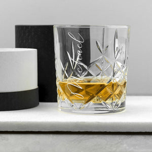 Personalised Crystal Whisky Tumbler - One of a Kind Gifts UK