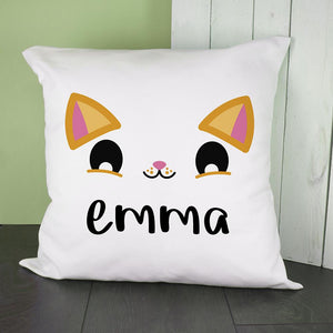 Personalised Cute Kitten Eyes Cushion Cover - One of a Kind Gifts UK