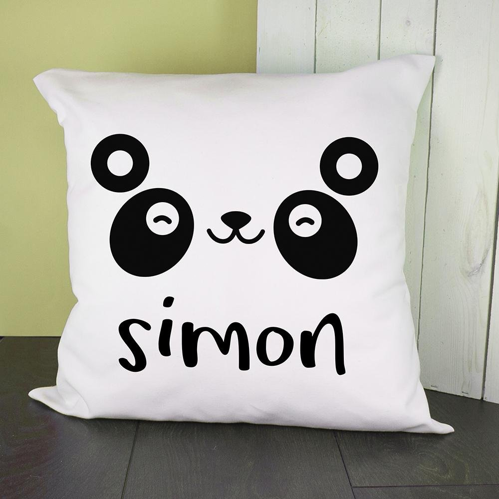 Personalised Cute Panda Eyes Cushion Cover - One of a Kind Gifts UK