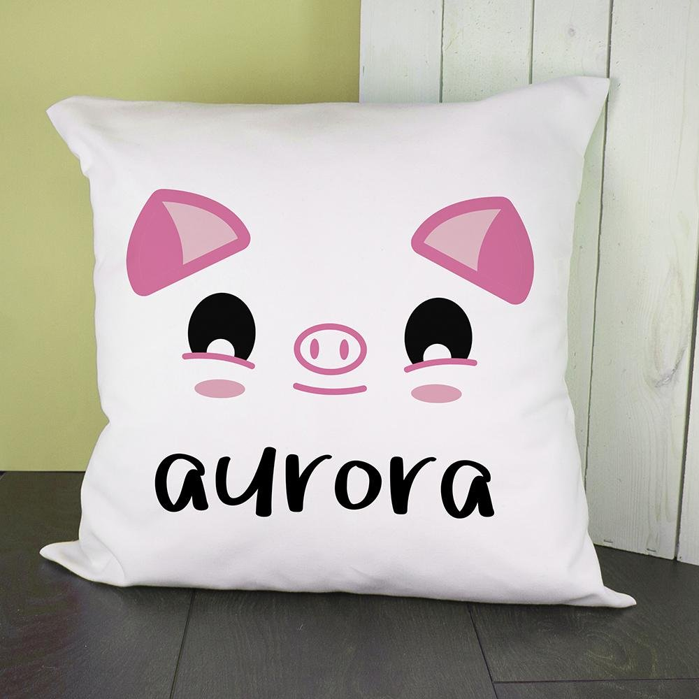 Personalised Cute Piggy Eyes Cushion Cover - One of a Kind Gifts UK