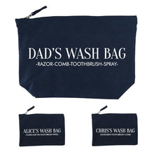 Load image into Gallery viewer, Personalised Daddy & Me Navy Wash Bags - One of a Kind Gifts UK