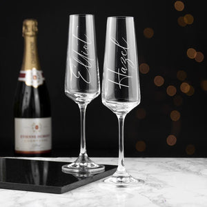 Personalised Elegance Champagne Flute - One of a Kind Gifts UK