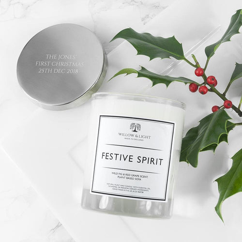 Personalised Festive Spirit Candle - One of a Kind Gifts UK