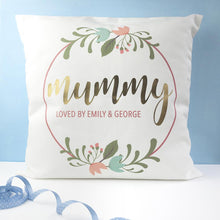 Load image into Gallery viewer, Personalised Floral Wreath Cushion Cover - One of a Kind Gifts UK