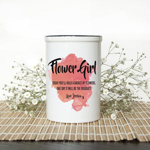Personalised Flower Girl Vase - One of a Kind Gifts UK