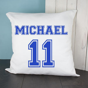 Personalised Football Kit Cushion Cover - One of a Kind Gifts UK