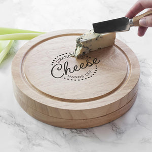 Personalised 'Hands Off' Cheese Board Set - One of a Kind Gifts UK