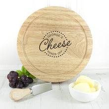 Load image into Gallery viewer, Personalised 'Hands Off' Cheese Board Set - One of a Kind Gifts UK