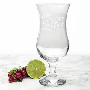 Personalised Happy Hour Cocktail Glass - One of a Kind Gifts UK