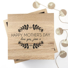 Load image into Gallery viewer, Personalised Happy Mother's Day Large Oak Photo Cube - One of a Kind Gifts UK