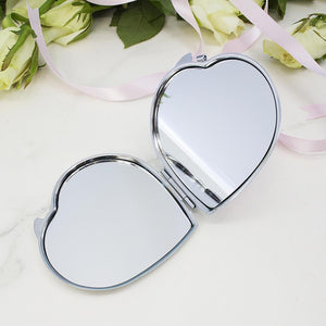 Personalised Hashtag Heart Compact Mirror - One of a Kind Gifts UK
