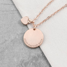 Load image into Gallery viewer, Personalised Heart and Disc Family Necklace