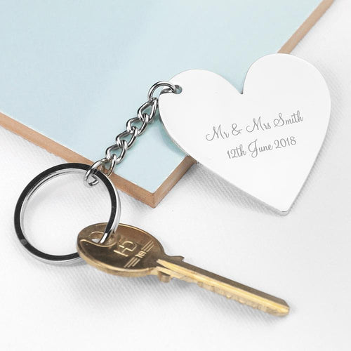 Personalised Heart Key Ring - One of a Kind Gifts UK