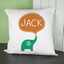 Load image into Gallery viewer, Personalised Hello Baby Elephant Cushion Cover - One of a Kind Gifts UK