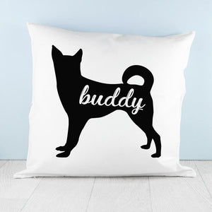 Personalised Husky Silhouette Cushion Cover - One of a Kind Gifts UK