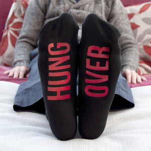 Personalised Jet Black & Crimson Socks - One of a Kind Gifts UK