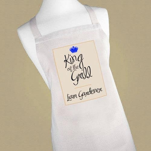 Personalised King of the Grill Apron - One of a Kind Gifts UK