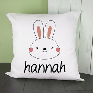 Personalised Little Bunny Face Cushion Cover - One of a Kind Gifts UK