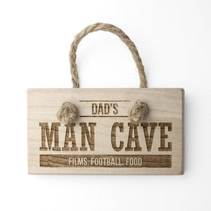 Personalised MAN CAVE Wooden Sign - One of a Kind Gifts UK