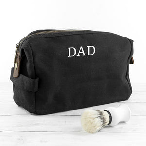 Personalised Men's Vintage Washbag - One of a Kind Gifts UK