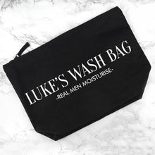 Load image into Gallery viewer, Personalised Men's Wash Bag in Black - One of a Kind Gifts UK