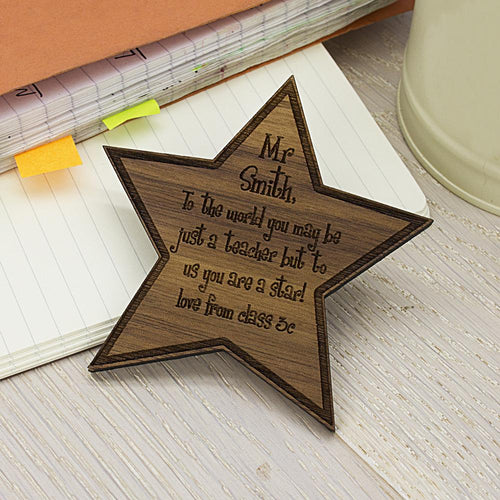 Personalised My Teacher Is A Star Fridge Magnet - One of a Kind Gifts UK