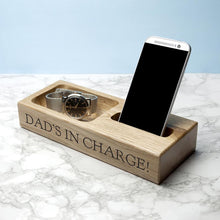 Load image into Gallery viewer, Personalised Oak Technology Stand - One of a Kind Gifts UK