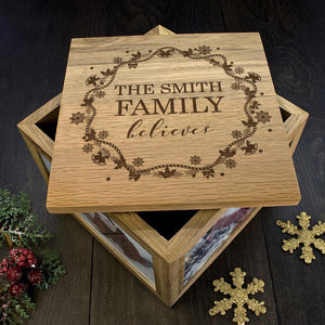 Personalised Our Family Believes Christmas Memory Box - One of a Kind Gifts UK