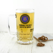 Load image into Gallery viewer, Personalised Probably The Best Beer Glass Tankard - One of a Kind Gifts UK