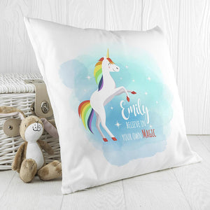 Personalised Rainbow Unicorn Cushion Cover - One of a Kind Gifts UK