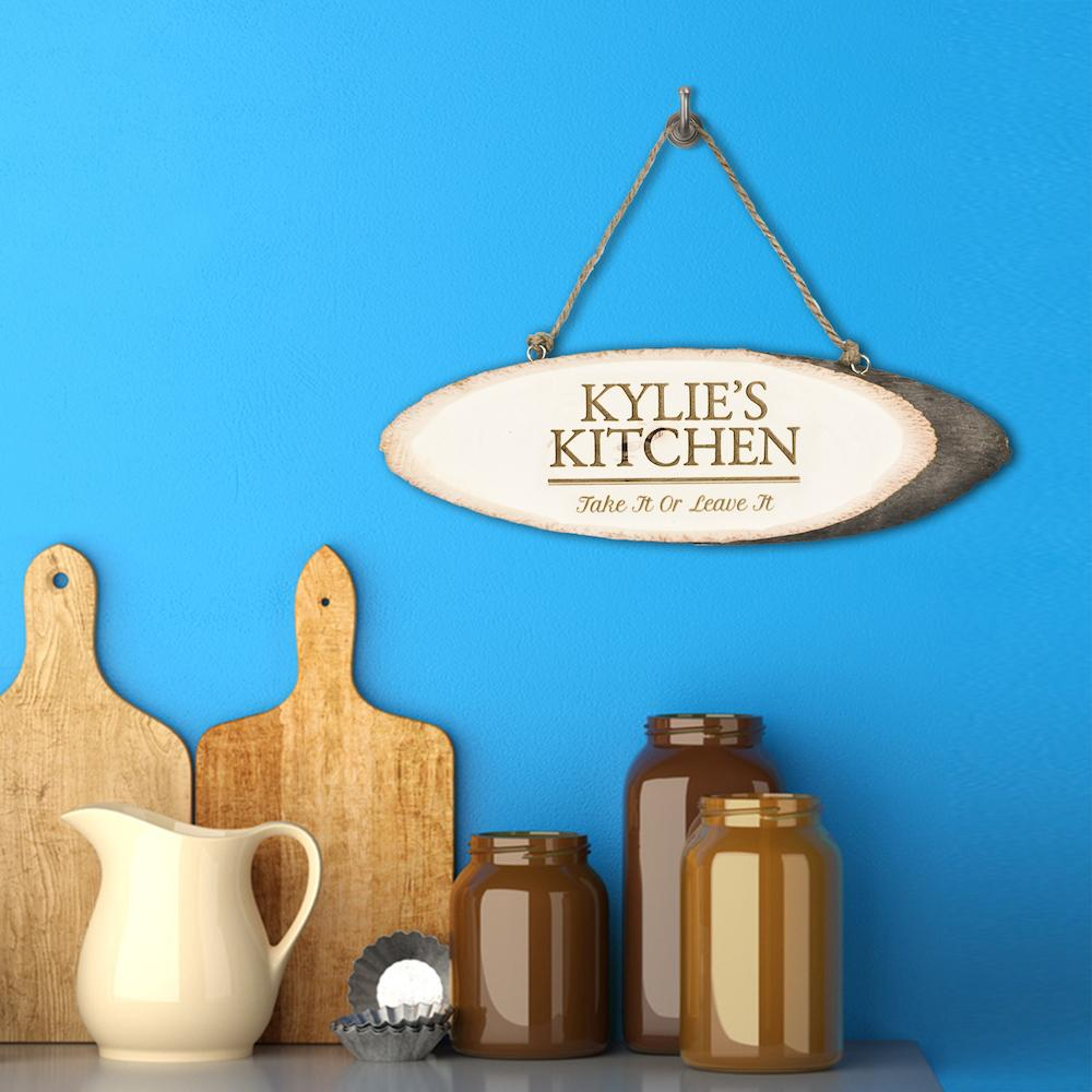 Personalised Rustic Kitchen Sign - One of a Kind Gifts UK