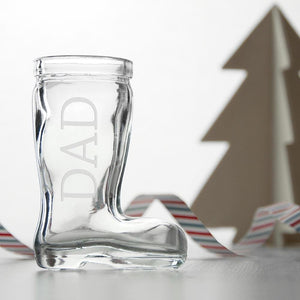 Personalised Santa Boot Shot Glass - One of a Kind Gifts UK