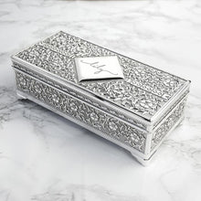 Load image into Gallery viewer, Personalised Silver Trinket Box - One of a Kind Gifts UK