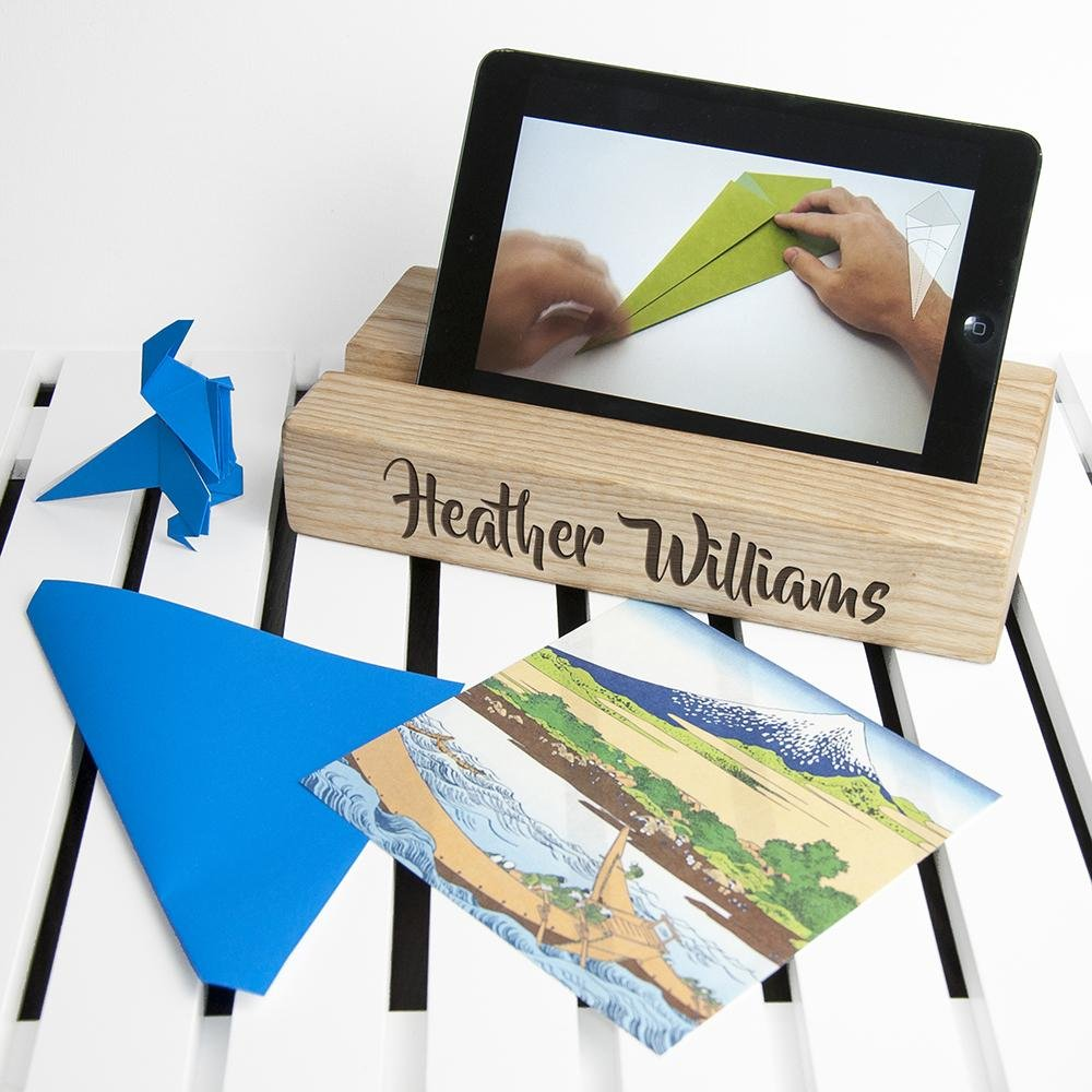 Personalised Single Office Desk Tablet Holder - One of a Kind Gifts UK