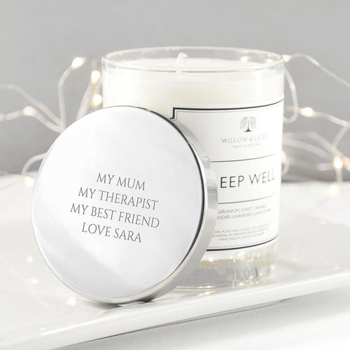 Personalised Sleep Well Candle - One of a Kind Gifts UK
