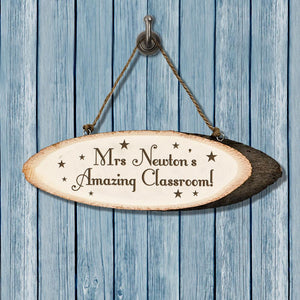 Personalised Super Star Teacher's Classroom Sign - One of a Kind Gifts UK