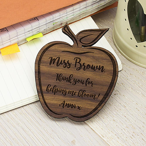Personalised Teacher's Apple Shaped Fridge Magnet - One of a Kind Gifts UK