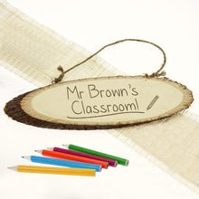 Load image into Gallery viewer, Personalised Teacher's Classroom Wooden Sign - One of a Kind Gifts UK