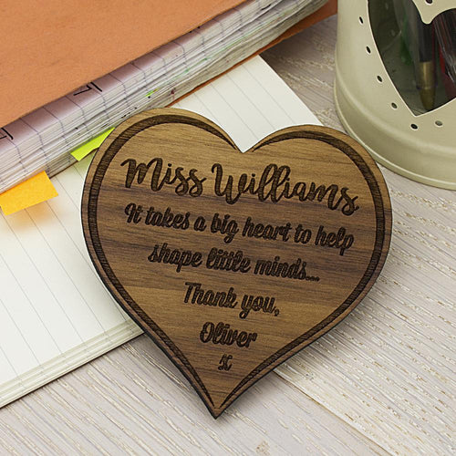 Personalised Teachers In Our Hearts Fridge Magnet - One of a Kind Gifts UK