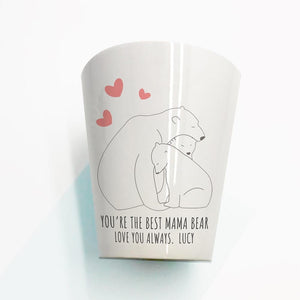Personalised The Best Mama Bear Mini Plant Pot - One of a Kind Gifts UK