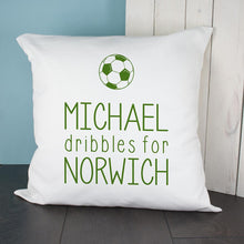 Load image into Gallery viewer, Personalised This Baby Dribbles For Baby Cushion Cover - One of a Kind Gifts UK