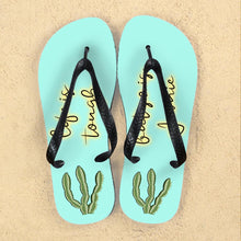 Load image into Gallery viewer, Personalised Tough as Cactus Flip Flops - One of a Kind Gifts UK