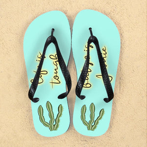 Personalised Tough as Cactus Flip Flops - One of a Kind Gifts UK