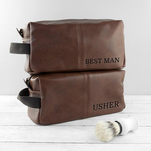Personalised Vintage Style Wash Bag - One of a Kind Gifts UK