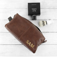 Load image into Gallery viewer, Personalised Vintage Style Wash Bag - One of a Kind Gifts UK